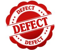 DEFECT red round rubber stamp. Illustration graphic concept Stock Image