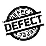 Defect rubber stamp Stock Images