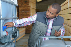 Defect in warehouse machine. Defect in the warehouse machine Stock Photography