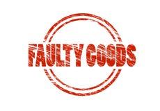 Defecte goederen Rode uitstekende rubberdiezegel op witte achtergrond wordt geïsoleerd stock foto's