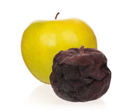 Defective apple Royalty Free Stock Photography