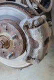 Defective brake disc Stock Photo