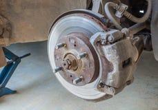 Defective brake disc Royalty Free Stock Photo