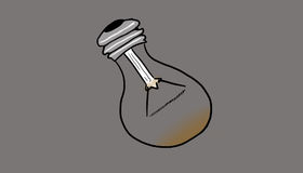 Defective bulb, illustration Royalty Free Stock Image
