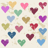 Defective hearts seamless pattern background for valentines day Royalty Free Stock Photos