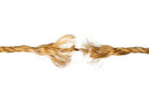 Defective rope Stock Photography