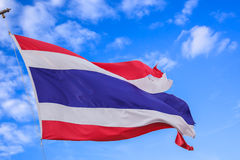 Defective waving flag of Thailand Royalty Free Stock Photography