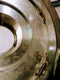 Defecto del bastidor en trabajo del tamaño enorme del acero inoxidable imagen de archivo