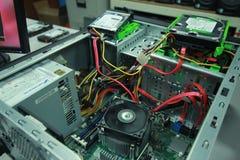 Defekt dator som behöver vara fast Arkivfoto