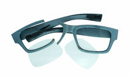 Defekte alte Gläser Lizenzfreies Stockbild