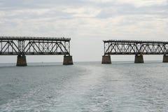 Defekte Brücke eine abstrakte Trennung Lizenzfreies Stockfoto