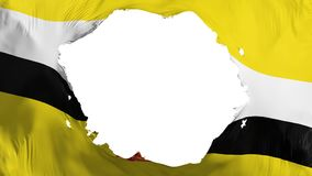 Defekte Brunei-Flagge vektor abbildung