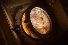 Defekte Glasöffnung Lizenzfreie Stockfotos
