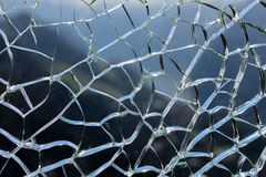 Defekte Glasfläche Stockfotos