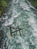 Defekte hängende Brücke stockbild