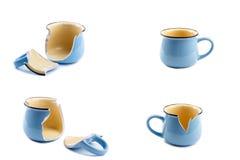 Defekte Kaffeetasse Lizenzfreie Stockbilder