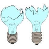 Defekte Lampe (3d) Stockfoto