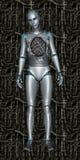 Defekter Roboter-Android-Technologie-Hintergrund Stockbild
