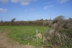 Defektes Bauernhof-Tor Cornwall England Stockfoto