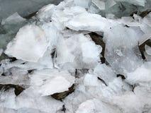Defektes Eis auf dem Potomac stockfoto