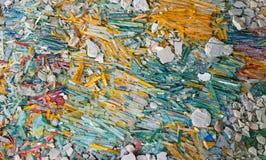 Defektes Glas in den schönen Farben Stockbild