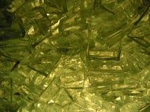 Defektes Glas zurück erleichtert Stockfotos