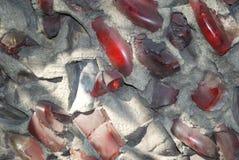 Defektes Glasflaschen-Wand-Mosaik lizenzfreie stockfotos