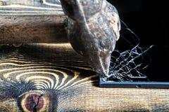 Defektes Glastelefon Stockbild