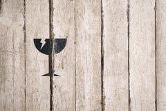 Defektes Glaszeichen Teil einer Reihe Lieferung, Wagenzeichen und Symbole Zustelldienst Stattliche Arbeitskraft mit einem Kasten  stockfotos