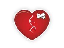 Defektes Herz Stockbild