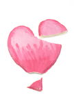 Defektes Herz des Valentinsgrußes des Salzteigs auf weißem Hintergrund Lizenzfreies Stockfoto