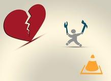 Defektes Herzoperationskonzept Vektor Abbildung