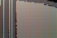 Defektes LCD-Bildschirm-Nahaufnahmebild - Makro von RGB-Pixeln und -defekten Lizenzfreie Stockfotografie