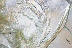 Defektes und gequetschtes starkes Glas lizenzfreie stockfotografie