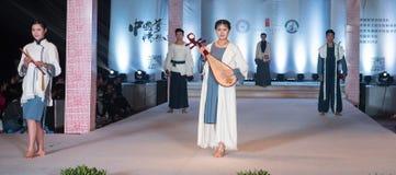 Defemte serierna av kinesiskt musikaliskt instrument-mode visar Royaltyfri Bild
