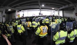 defence angielski liga protest Zdjęcia Stock