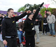 defence angielski liga protest Obrazy Royalty Free