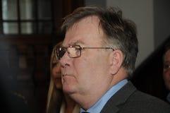 DEFENCE_CLAUS HJORT FREDERIKSEN的DANOSH部长 免版税库存图片
