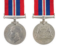 The Defence Medal Royalty Free Stock Images