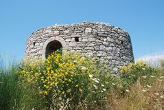 Defence post, Paxos Stock Image