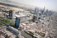 Defence Roundabout & Sheikh Zayed Road In Dubai Stock Images