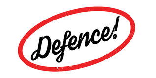 Defence rubber stamp Stock Images