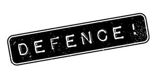 Defence rubber stamp Royalty Free Stock Photography