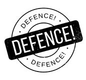 Defence rubber stamp Stock Photo
