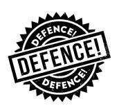 Defence rubber stamp Royalty Free Stock Photo