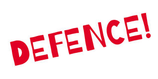 Defence rubber stamp Stock Image