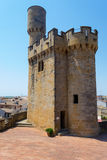 Defence tower in Olite Stock Photo