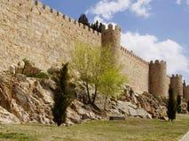 Defence wall of Avila city Stock Photography