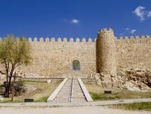 Defence wall of Avila city Stock Photo