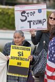 Defend Dreamers Rally hosted by Coalition for Humane Immigrant Rights. BEVERLY HILLS, CALIFORNIA - MARCH 12, 2018: Defend Dreamers Rally hosted by Coalition for royalty free stock images